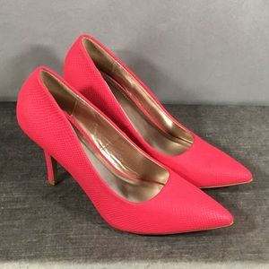Charlotte Russe Neon Hot Pink Pumps